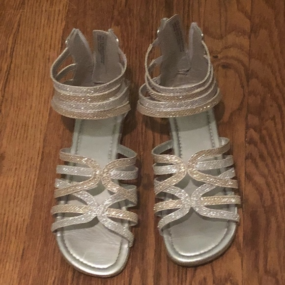 35a3d672ee3 Children s Place Other - Girls silver and gold gladiator sandals